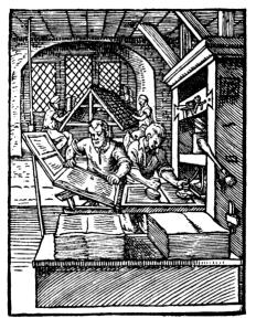 Printers in 1568 by Jost Amman, Wikimedia