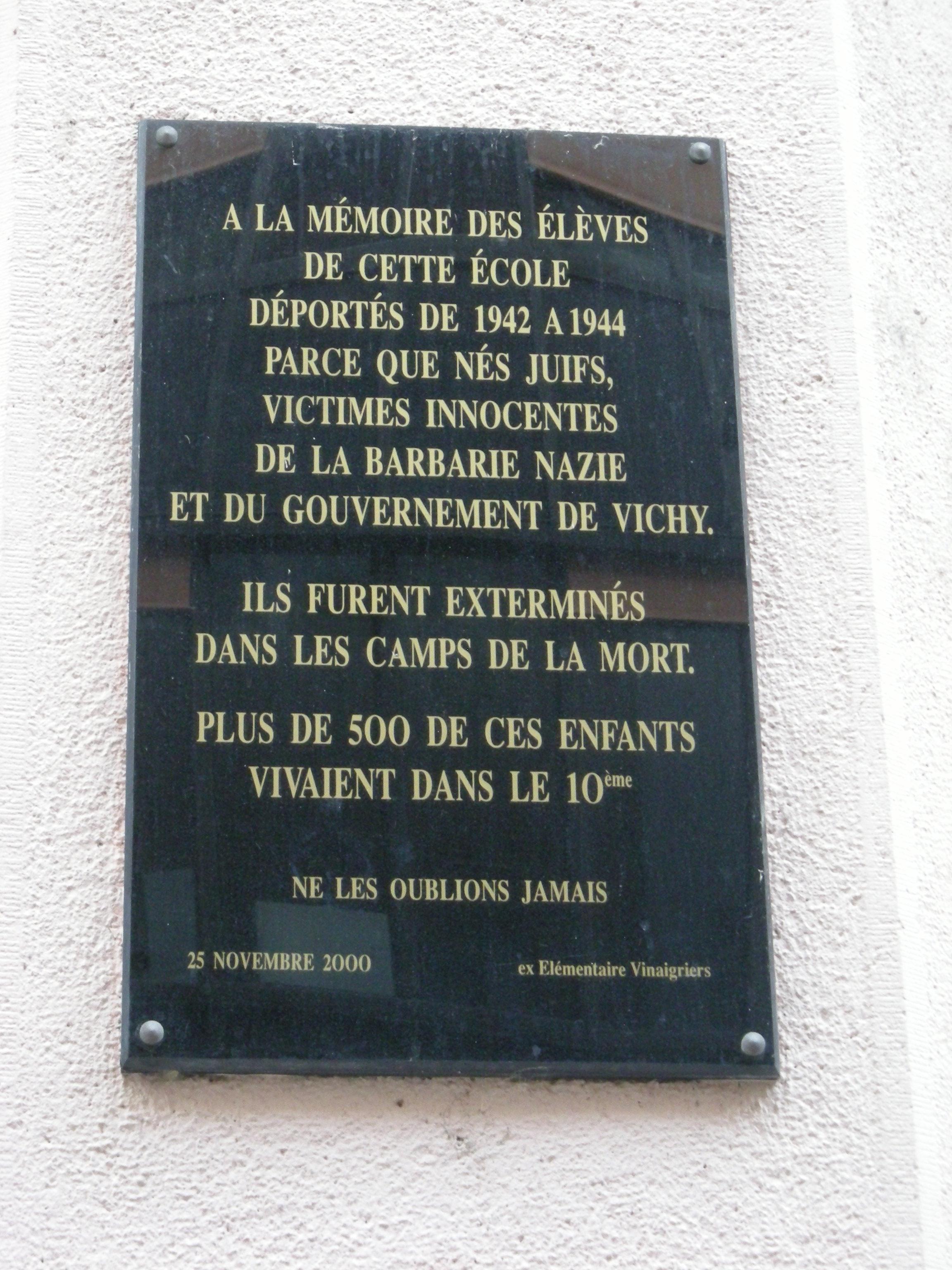 Ecole Louise Michel, Rue Des Vinaigriers, 10th Arrondissement