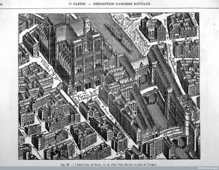 L0023829 L'hotel-Dieu, Paris, aerial view